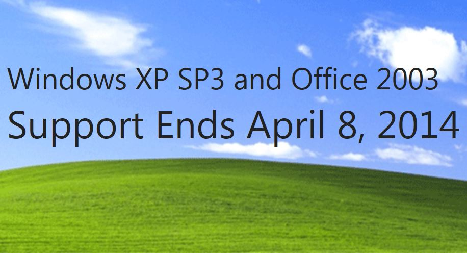 windows XP end